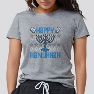 Happy Hanukkah Womens Tri-blend T-Shirt