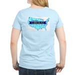 True Blue United States LIBERAL Women's Pink Tee