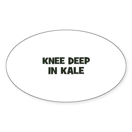 knee deep in kale Oval Sticker
