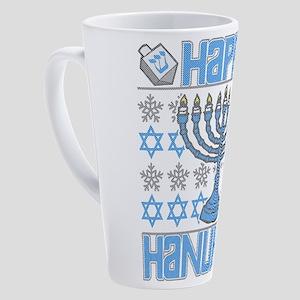 Happy Hanukkah 17 oz Latte Mug