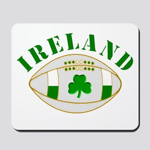 Ireland style rugby ball Mousepad