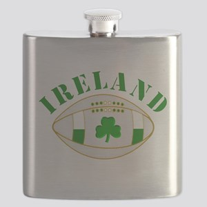 Ireland style rugby ball Flask