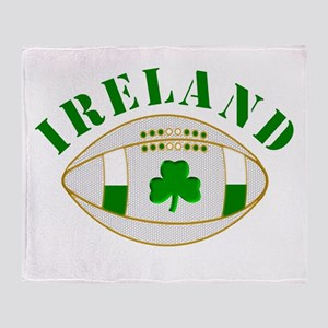 Ireland style rugby ball Throw Blanket