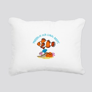 PRESERVE OUR CORAL REEFS Rectangular Canvas Pillow