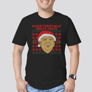 Make Christmas Great A Men's Fitted T-Shirt (dark)