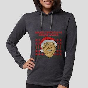 Make Christmas Great Again Womens Hooded Shirt