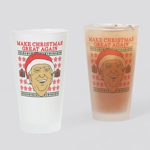 Make Christmas Great Again Drinking Glass