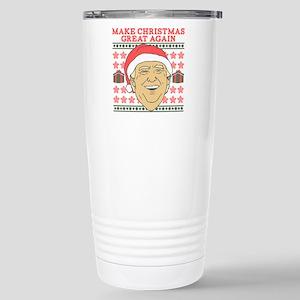 Make Christmas Gr 16 oz Stainless Steel Travel Mug