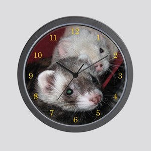 Ferret Love Wall Clock