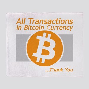 All Transactions in Bitcoin Currency Throw Blanket