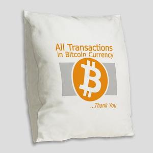 All Transactions in Bitcoin Cu Burlap Throw Pillow