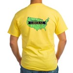 True Blue United States LIBERAL Yellow T-Shirt