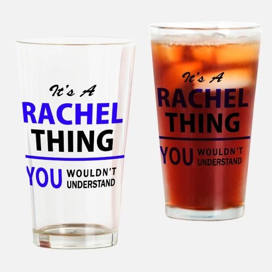 Cute Rachel Drinking Glass