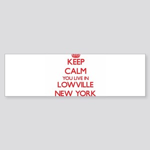 Keep calm you live in Lowville New Bumper Sticker