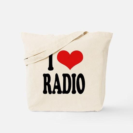 I Love Radio Tote Bag