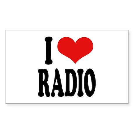 I Love Radio Rectangle Sticker