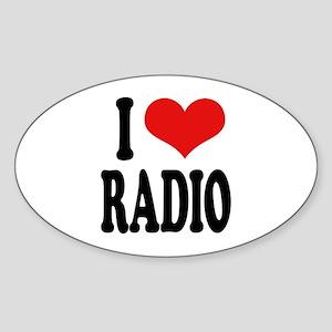 I Love Radio Oval Sticker