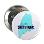 "2.25"" Button (10 pack) True Blue Maine LIBERAL"