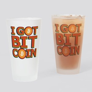 I Got Bitcoin Large Text Drinking Glass