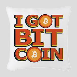 I Got Bitcoin Large Text Woven Throw Pillow