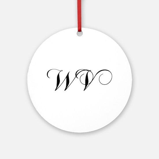 WV-cho black Ornament (Round)