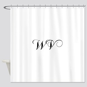 WV Cho Black Shower Curtain