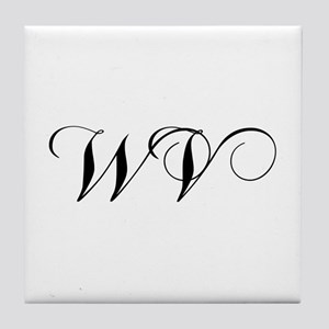 WV-cho black Tile Coaster