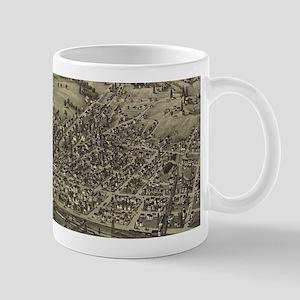 Vintage Pictorial Map of McDonald PA (1897) Mugs