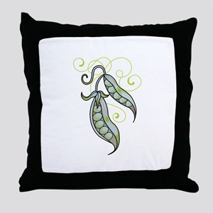PEAPODS Throw Pillow