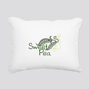 SWEET PEA Rectangular Canvas Pillow