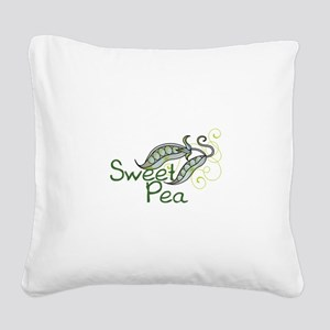 SWEET PEA Square Canvas Pillow