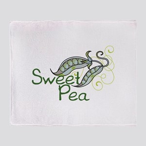 SWEET PEA Throw Blanket