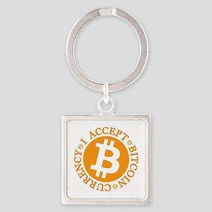 Type 2 I Accept Bitcoin Keychains
