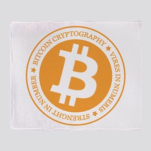 Type 1 Bitcoin Logo Throw Blanket