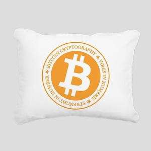 Type 1 Bitcoin Logo Rectangular Canvas Pillow
