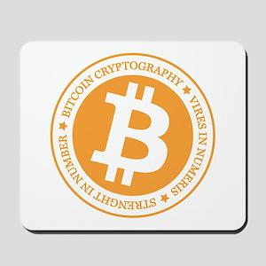 Type 1 Bitcoin Logo Mousepad