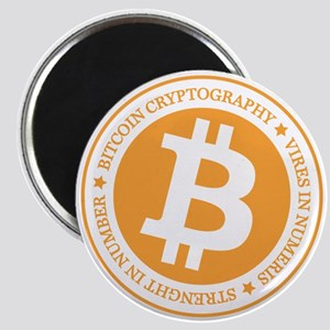 Type 1 Bitcoin Logo Magnets