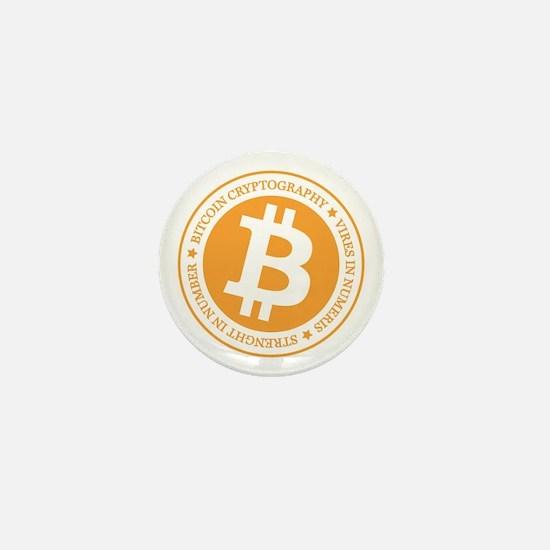 Type 1 Bitcoin Logo Mini Button