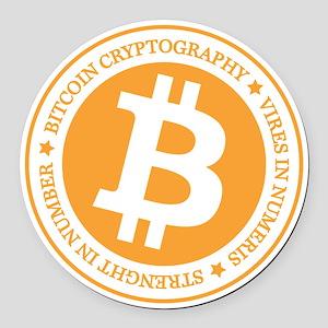 Type 1 Bitcoin Logo Round Car Magnet