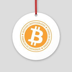 Type 1 Bitcoin Logo Ornament (Round)