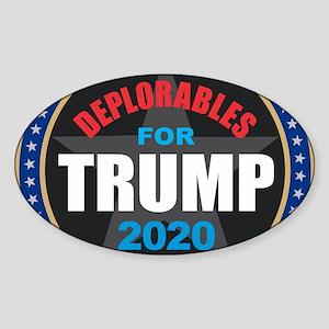 Deplorables for Trump 2020 Sticker