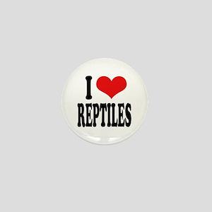 I Love Reptiles Mini Button