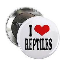 I Love Reptiles Button