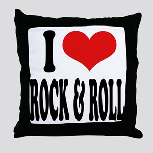 I Love Rock & Roll Throw Pillow