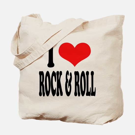 I Love Rock & Roll Tote Bag