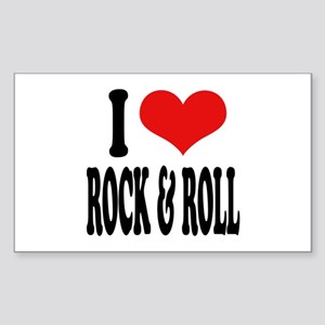 I Love Rock & Roll Rectangle Sticker