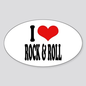 I Love Rock & Roll Oval Sticker