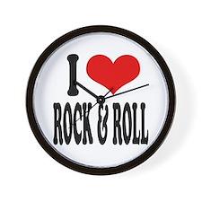 I Love Rock & Roll Wall Clock
