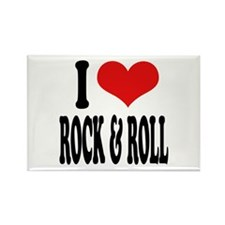 I Love Rock & Roll Rectangle Magnet