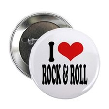 I Love Rock & Roll Button